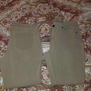 Two pairs of khaki pants